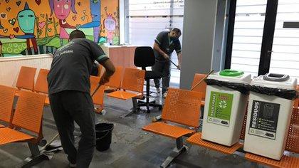 La Oficina de Violencia Doméstica (OVD) en Lavalle 1250 mantiene protocolos de higiene para poder funcionar a pesar de la crisis por el Covid-19.