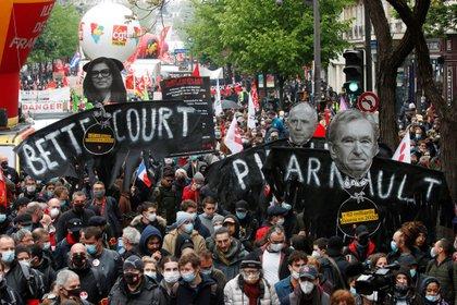 Más de 100 mil personas marchan por el Día del Trabajador en Francia: hubo  incidentes con la Policía y detenidos - Infobae