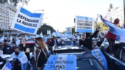 La marcha del lunes pasado en el Obelisco (Franco Fafasuli)