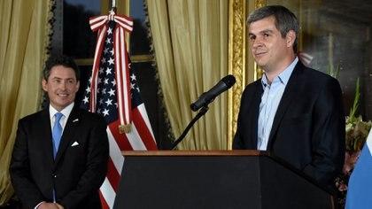 El jefe de Gabinete, Marcos Peña, durante su discurso