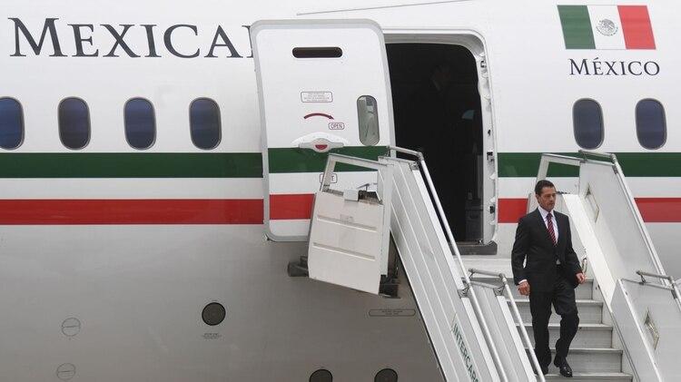 El avión fue comprado por Felipe Calderón, pero lo estrenó Enrique Peña Nieto (Foto: Archivo)