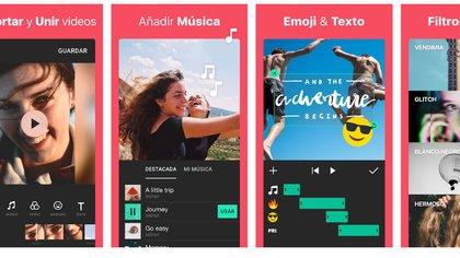 Permite editar clips muy fácilmente y está disponible para iOS y Android.