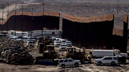 El muro se está construyendo a lo largo de la frontera entre EEUU y México (Foto: Cuartoscuro)
