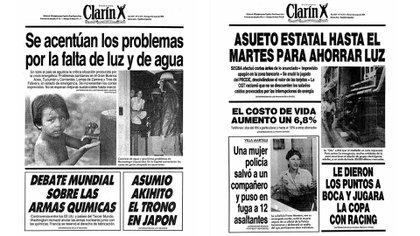 Hace 30 años, los diarios de la época mostraban cómo se vio afectada la vida cotidiana de los argentinos por los cortes de luz programados en enero de 1989
