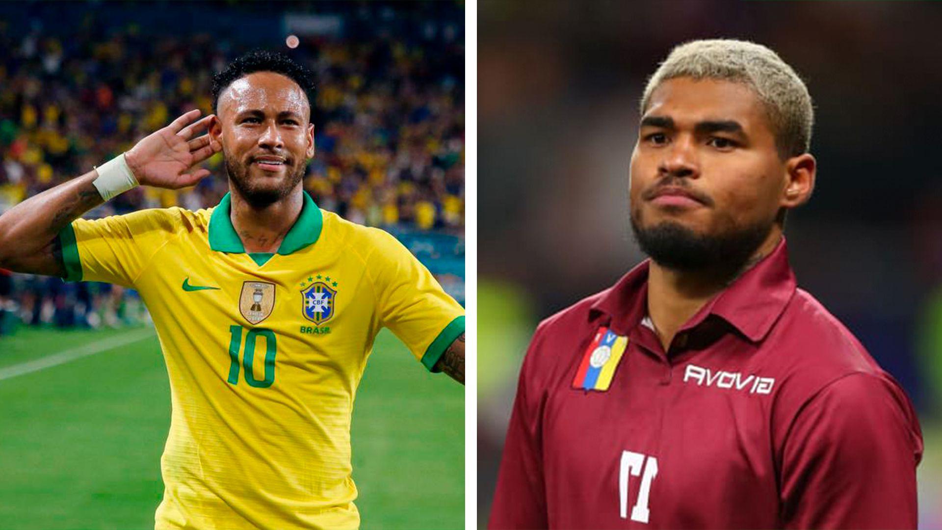 Brasil (Neymar)- Venezuela (Josef Martínez)