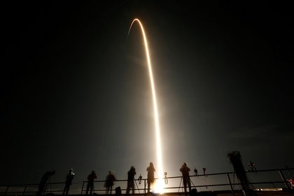 Launch of Falcon 9, with NASA astronauts (Reuters)