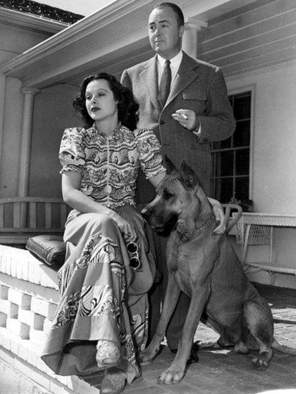Lamarr y Gene Markey en 1939. El matrimonio duró dos años