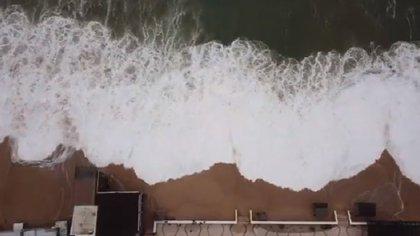 Genevive se degradó a huracán categoría 1 (Foto: Webcams de Mexico)