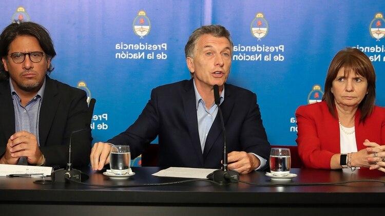 Germán Garavano, Mauricio Macri y Patricia Bullrich