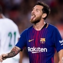 BARCELONA, SPAIN - AUGUST 07: Lionel Messi of FC Barcelona reacts during the Joan Gamper Trophy match between FC Barcelona and Chapecoense at Camp Nou stadium on August 7, 2017 in Barcelona, Spain. (Photo by Alex Caparros/Getty Images)