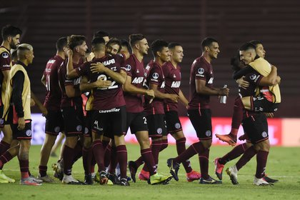 Lanús reached the final with a mixture of youth and experience (REUTERS / Marcelo Endelli)