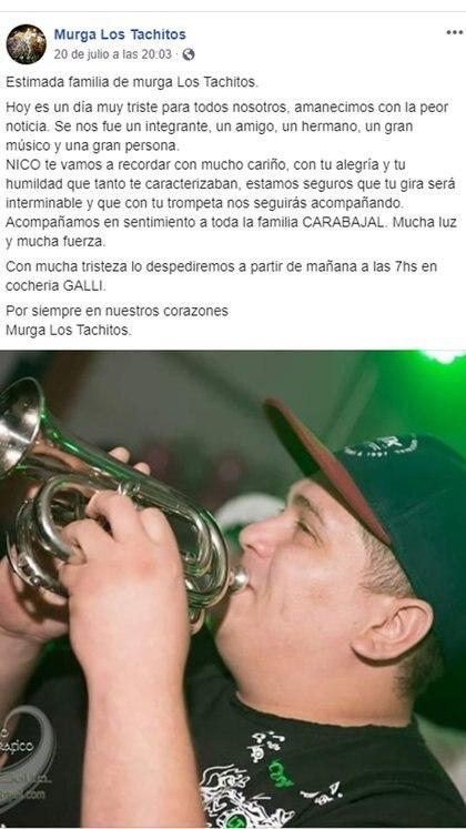 La despedida de Los Tachitos (Crédito: Facebook)