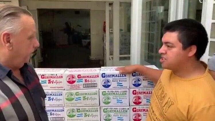El dueño de Guaymallén junto a Ezequiel, autor de la frase viral