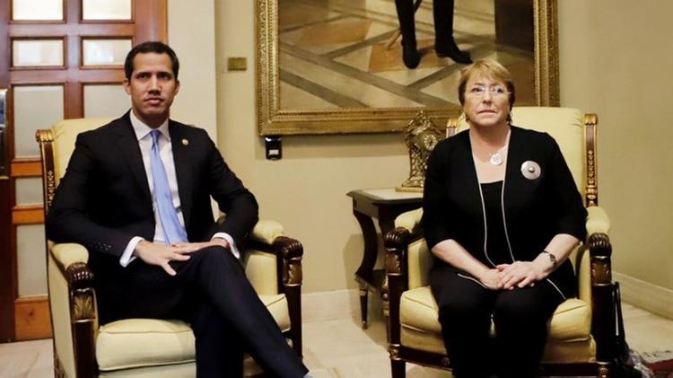 Juan Guaidó se reunió con Michelle Bachelet el viernes 21 de junio en Caracas