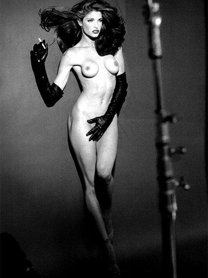 Stephanie, a principios de los '90, para la revista Playboy