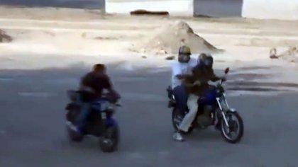 """Los colectivos """"motorizados"""", este martes en Caracas"""