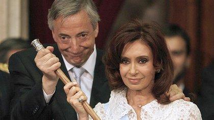 Los ex presidentes de la Argentina Néstor Kirchner y Cristina Fernández de Kirchner