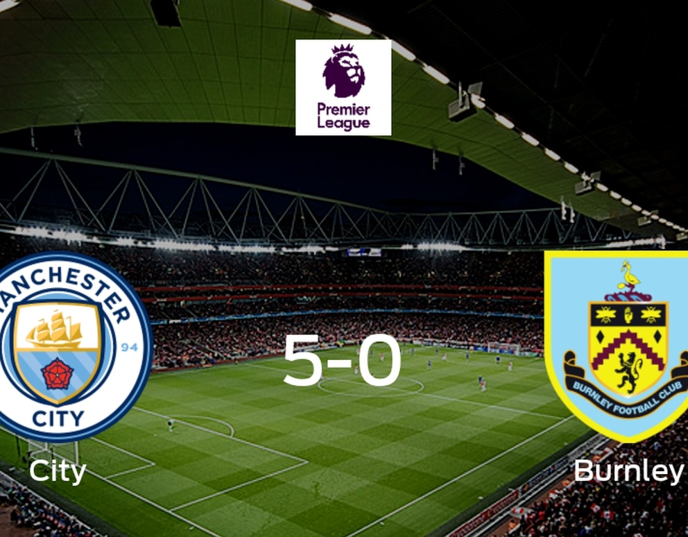 Manchester City vence a Burnley (5-0) - Infobae