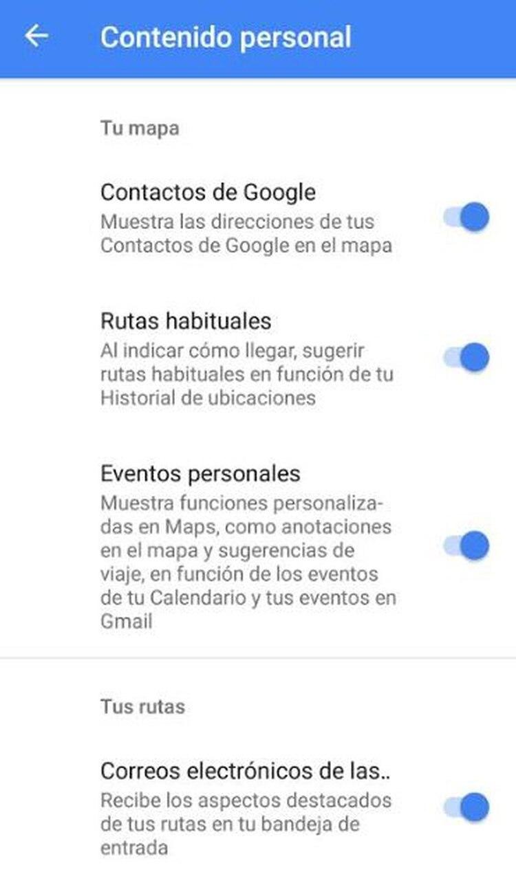 Este mapa, según Google, es privado porque sólo lo hallarás en tu celular, tablet o computadora conectados a tu cuenta de gmail (Foto: Google Maps)