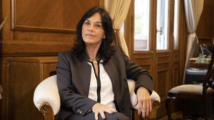 La Secretaria Legal y Técnica de la Presidencia y autora del Proyecto, Vilma Ibarra.