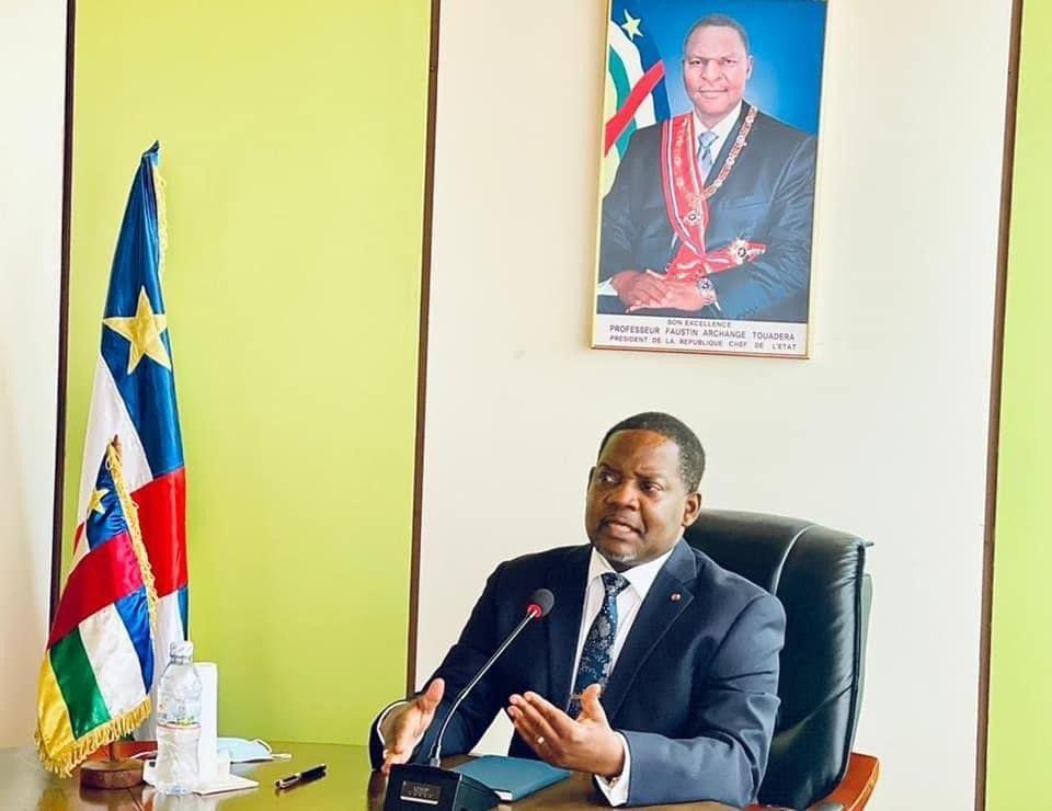 11-06-2021 El primer ministro de República Centroafricana (RCA), Firmin Ngrebada POLITICA AFRICA REPÚBLICA CENTROAFRICANA INTERNACIONAL TWITTER OFICINA PRIMER MINISTRO RCA (@PRIMATUREO)