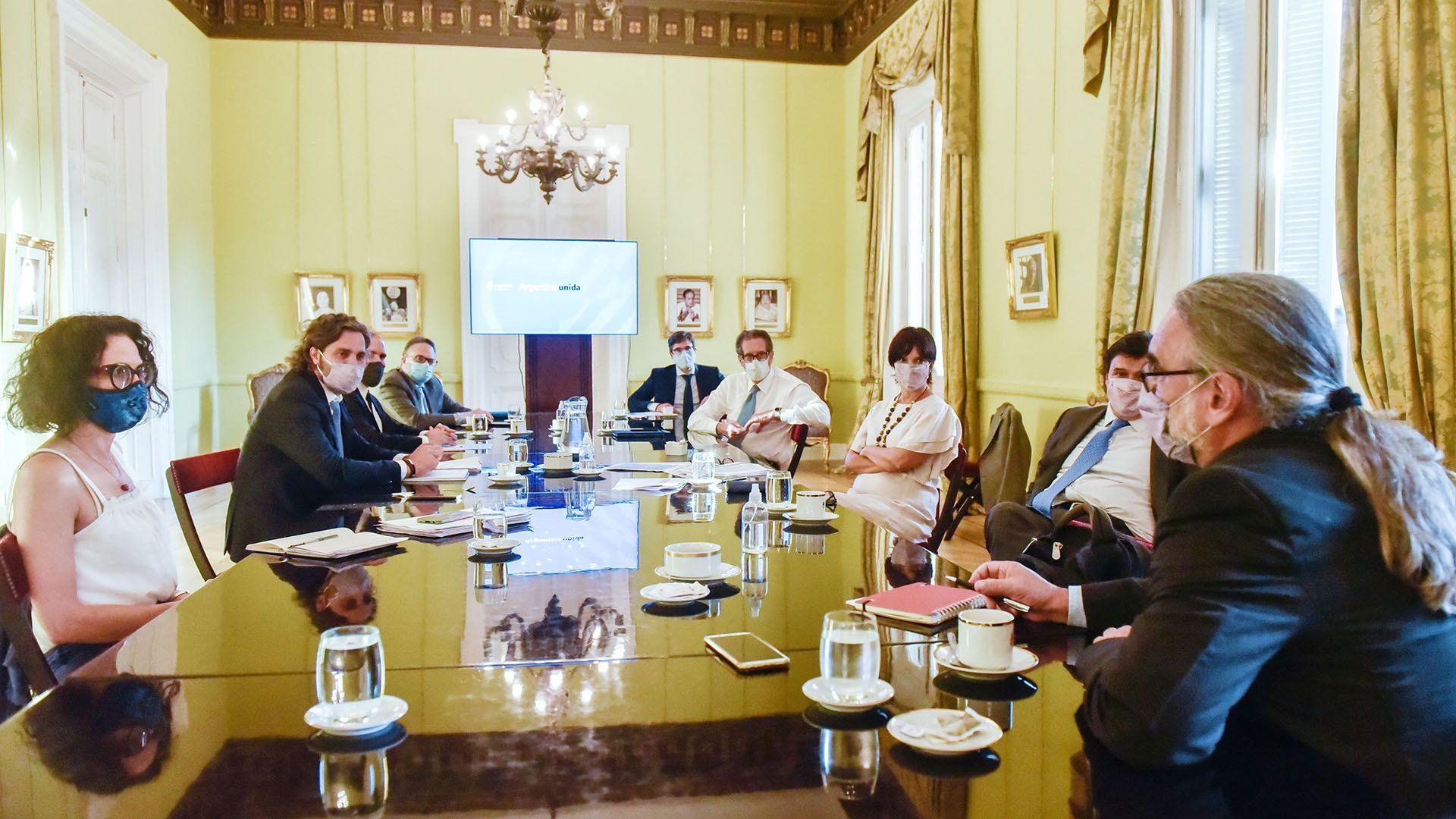 reunión de gabinete económico 21 de enero