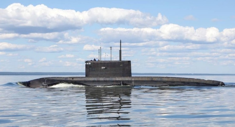 El submarino ruso Krasnodar (Ministerio Defensa Rusia)