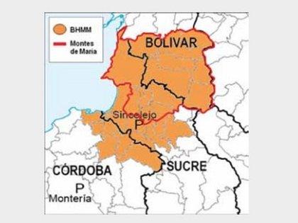 Mapa elaborado a partir de la versión libre de Salvatore Mancuso (Mancuso, 2007) / Tomado de 'Justicia y Paz' del Centro de Memoria Histórica.