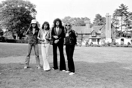 Queen en agosto de 1975. Shutterstock