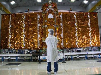 El satélite Saocom1B se terminó de construir en 2019 y fue enviado en febrero último a EEUU para su lanzamiento.