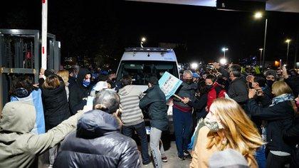 Vecinos de Ayres del Pilar se opusieron a que Lázaro Báez cumpla con el arresto domiciliario en el barrio privado (Franco Fafasuli)