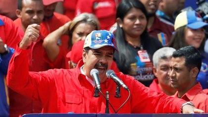 Nicolás Maduro, cuestionado presidente venezolano, durante una arenga por los 20 años del cavismo (REUTERS/Manaure Quintero)