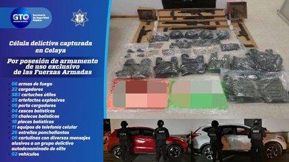 El arresto, realizado en el municipio de Celaya, fue derivado de las labores de inteligencia de la Secretaría de Seguridad Pública del Estado (SSPE), por medio del Grupo Táctico Operativo de las Fuerzas de Seguridad Pública del Estado (FSPE) (Foto: Secretaría de Seguridad Pública de Guanajuato)