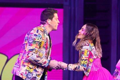 La química mostrada por los dos cantantes despertó cientos de comentarios sobre un supuesto romance. (FOTO: GRACIELA LÓPEZ/CUARTOSCURO)