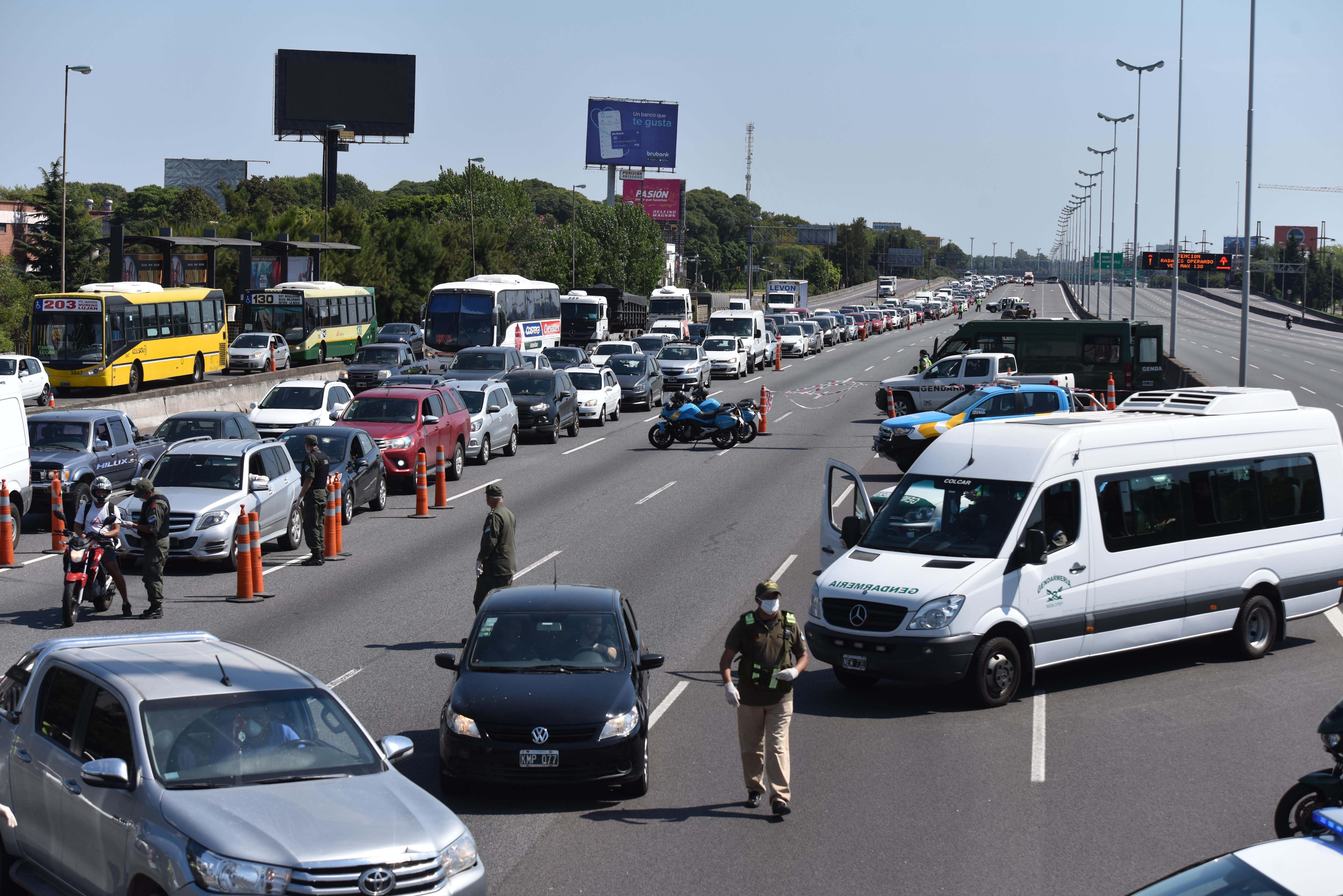 Imagen de que se repetiría. Se esperan controles más rígidos en Panamericana y otras vías de tránsito entre la Capital y la Provincia.
