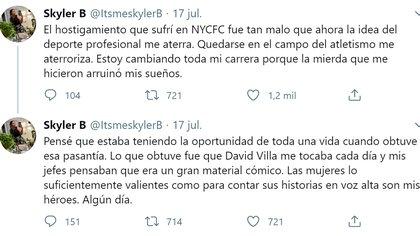 La denuncia del abuso de David Villa en Twitter