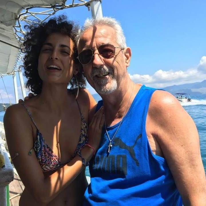 Sheila Spagnolo junto a su padre Ernesto (Facebook: Ernesto Spagnolo)