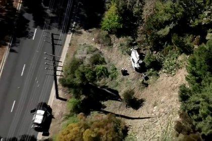 El vehículo quedó destrozado (Reuters)