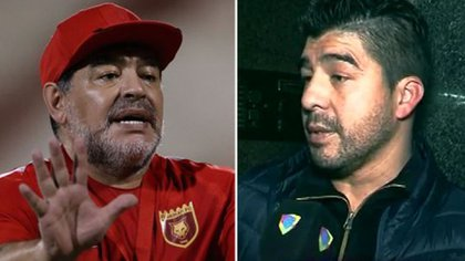 """Diego Maradona y """"El Chino"""" Maradona"""