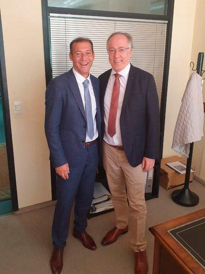 El gobernador de Neuquén con el nuevo titular de YPF, Guillermo Nielsen