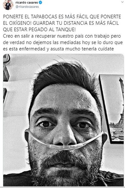 El periodista envió un mensaje pidiendo a sus seguidores respetar las medidas sanitarias ante el COVID-19 (Foto: Instagram @ricardocasares)