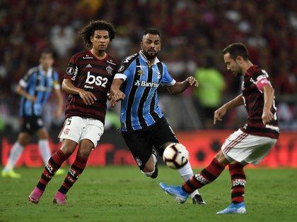 Tras el empate 1-1 como local, Gremio se vio muy superado por Flamengo, que jugará la segunda final de Copa Libertadores de su historia (Photo by MAURO PIMENTEL / AFP)