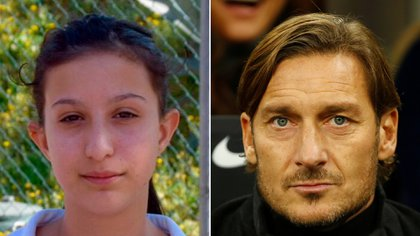 Ilenia Matilli y Francesco Totti