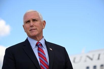 El candidato a vicepresidente por el partido republicano. Mike Pence