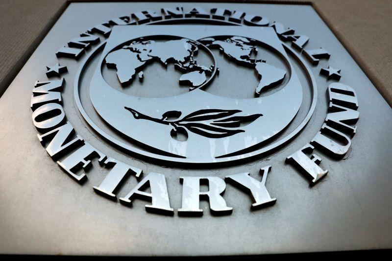Foto de archivo - Logo del FMI. Sep 4, 2018. REUTERS/Yuri Gripas/File Photo