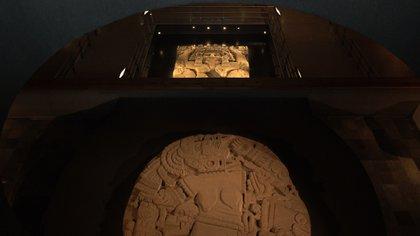Coyolxauhqui y Tlaltecuhtli, en el Museo del Templo Mayor (Foto: Juan Vicente Manrique)