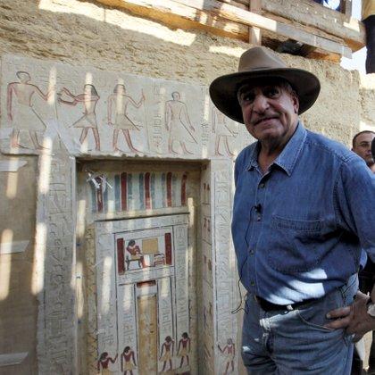 El jefe de la arqueología egipcia, Zahi Hawas. EFE/Khaled El-Fiqui/Archivo