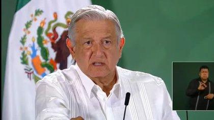 El presidente habló, durante su conferencia de prensa mañanera, sobre el préstamo que supuestamente se le otorgó a Epigmenio Ibarra. Foto: Impresión de pantalla de video