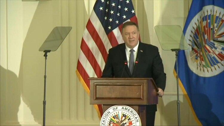 El jefe de la diplomacia de Estados Unidos, Mike Pompeo, defendió el viernes el rol Luis Almagro como secretario general de la OEA porque cree en un