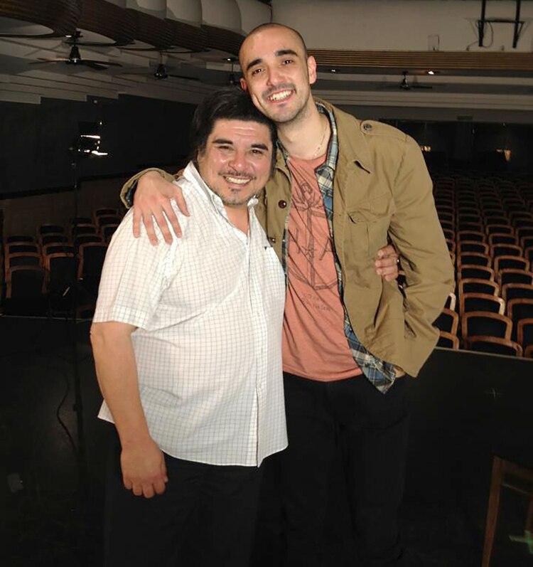 Fabián Matus con Abel Pintos (Facebook)